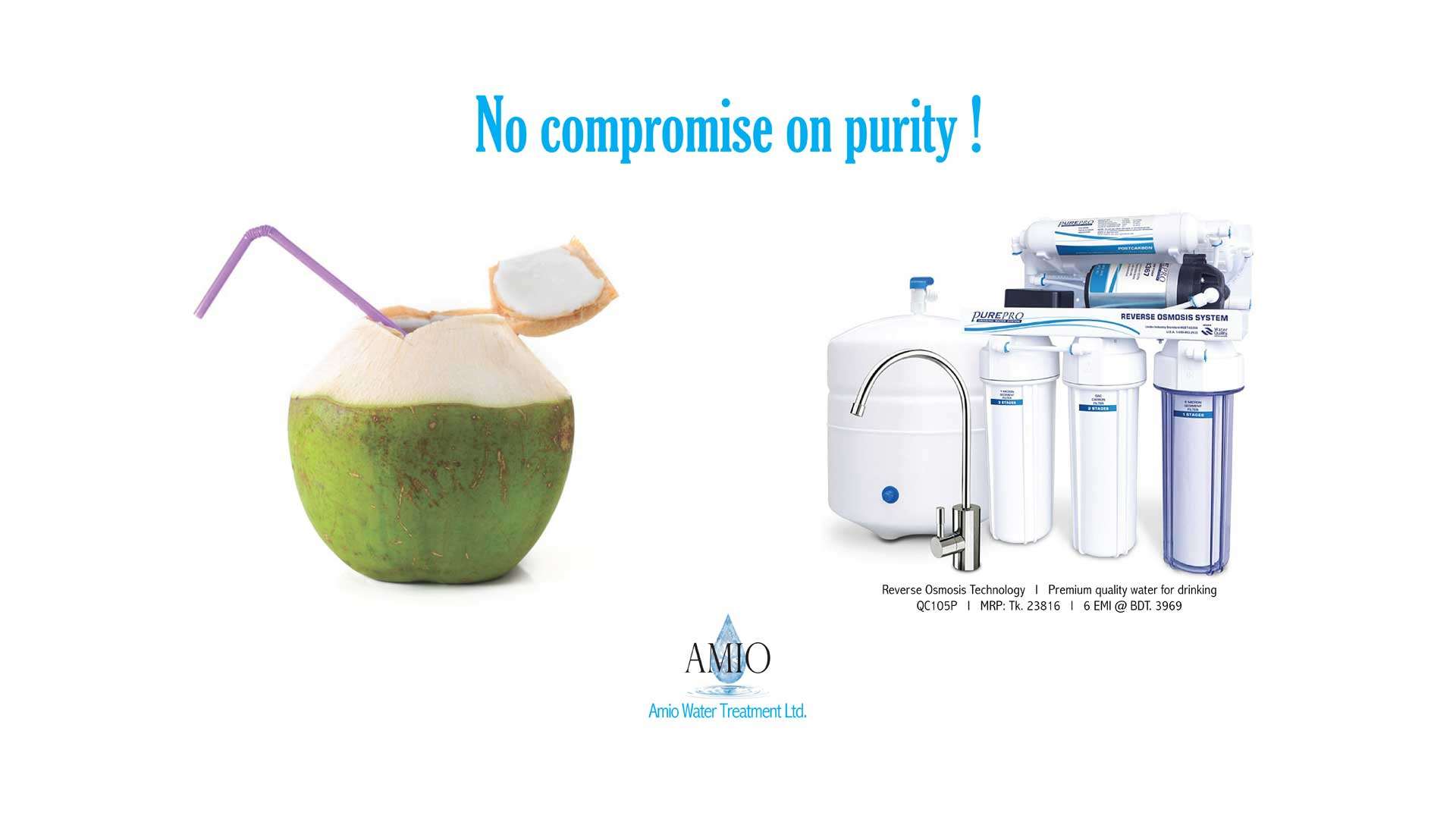 Amio Water | Purity in every drop